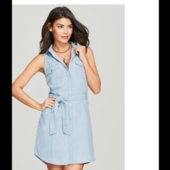 Spoon Plus Size Chambray Denim Shirt Dress 3X Boutique